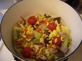 温菜春きゃべつと豚肉のにんにくレモン醤油