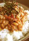 ●味付き胡麻たっぷり✿梅納豆ご飯●