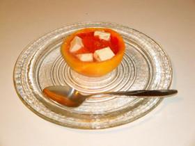グレープフルーツのクリームチーズカップ