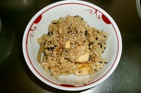 炒り豆腐の炊き込みごはん