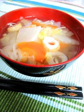 塩麹さんで野菜たっぷりスープ♪