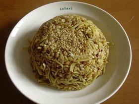そば♡納豆♡卵のチャーハン