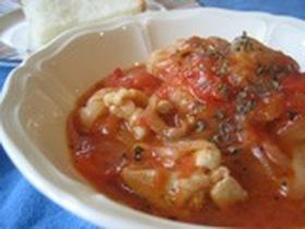 鶏肉と干ぴょうのトマト煮