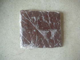我が家のチョコソースで自家製チョコシート