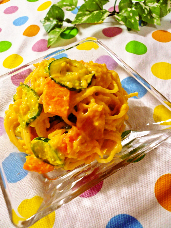 かぼちゃのスパゲッティサラダ☆彡