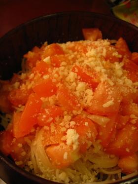 10分で簡単!フレッシュトマトパスタ。