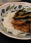 かじきのバルサミコ酢炒め丼