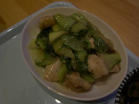 ムネ肉と青梗菜の中華風炒め