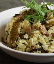 高菜と焼豚の旨辛炒飯の写真
