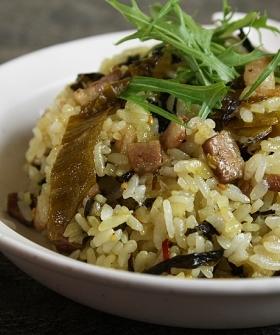 高菜と焼豚の旨辛炒飯
