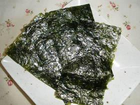 簡単☆ご飯がすすむ☆韓国のりの作り方☆