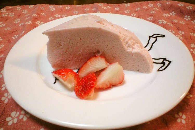 人気 レシピ いちご ババロア