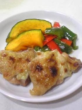鶏肉のマスタード焼き