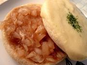 スープじゅわ~★オニオングラタンマフィンの写真