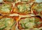 シュウマイの皮でピザ