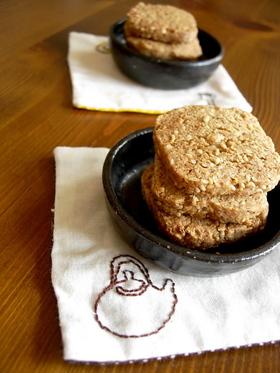 全粒粉とゴマのザクザククッキー