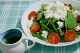 カッテージチーズとほうれん草のサラダ