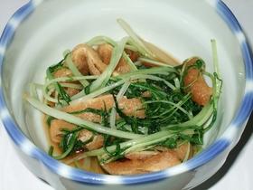 水菜と油揚げの煮浸し風❤ 炒めもの