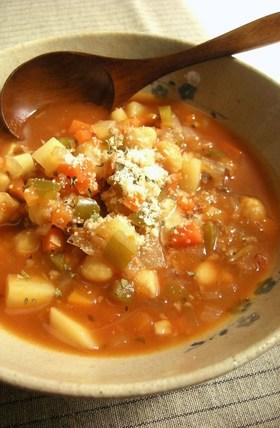 デトックス♪ 野菜たっぷりトマトスープ