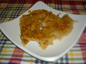 天ぷら粉で、もやしとベーコンのお焼き