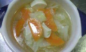 きゃべつと豆腐の中華風スープ