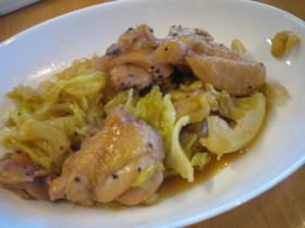 鶏肉と春野菜の煮物