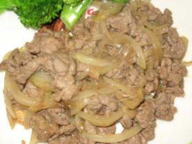 牛肉と玉ねぎのしょうが炒め