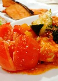 簡単冷蔵庫のお野菜とチキンオーブン焼き