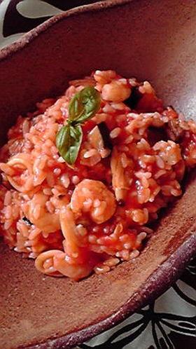 シーフードリゾット 町のイタリア料理屋風