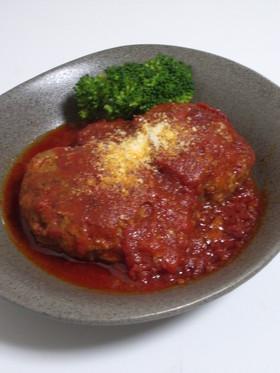 トマト缶で煮込みハンバーグ~♪♪