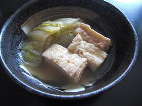 母の味 白菜と厚揚げの煮物