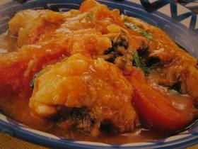シメジと鶏肉のトマト煮♥