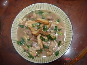 豚肉と豆腐乾炒め