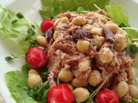 お豆とコンビーフのサラダ