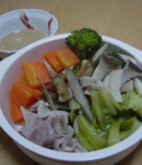 ニンニクソースで★野菜蒸し