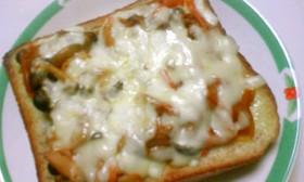 失敗なしピザトースト~食物繊維たっぷり♪