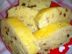 Rレンジで蒸しケーキ(牛乳パック)