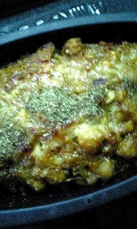 豆入りキーマーカレーグラタン