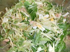 水菜のツナ玉子サラダ