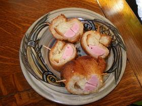 ソーセージ巻き揚げパン
