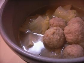 低カロリーで美味しい~白菜と肉団子鍋