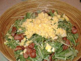 アッ!という間に出来る水菜サラダ