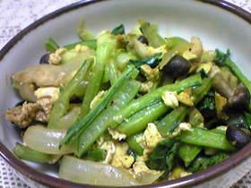 美味しく食べよう♪小松菜カレー炒め♪♪♪