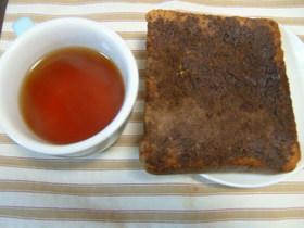 朝食・おやつに♪まっくろココアトースト