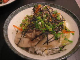 牡蠣のあっさり丼