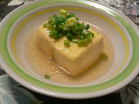 定番の揚げだし豆腐