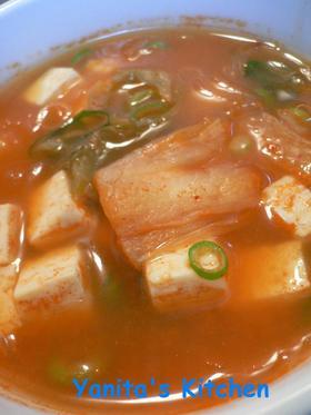チゲ風春雨スープ*ご飯と合う!!*