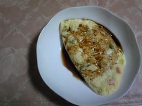 レンジで簡単・お豆腐のふんわりオムレツ