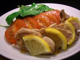 蒸し鶏&レモンの爽やかサラダ
