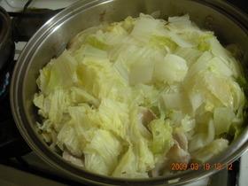 白菜が甘い豚バラ蒸し
